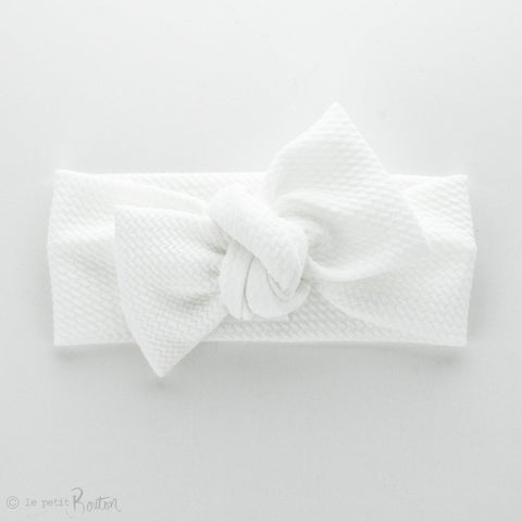 Autumn18Textured Bow Knot Headband - Snow