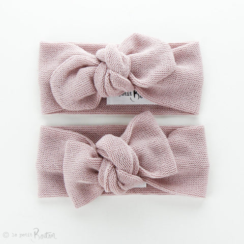 Soft Knit Top Knot Headband - Dusty Rose