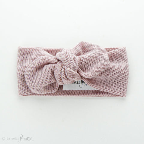 Autumn18 Knit Top Knot Headband - Dusty Rose