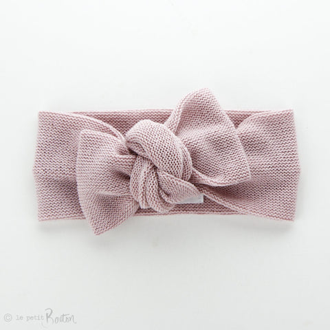 Soft Knit Bow Knot Headband - Dusty Rose
