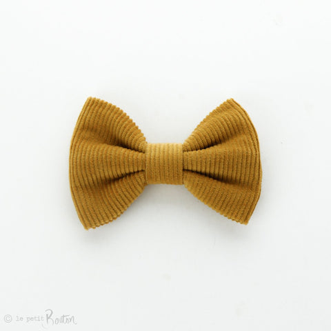 Autumn18 Corduroy Large Bow Clip - Mustard