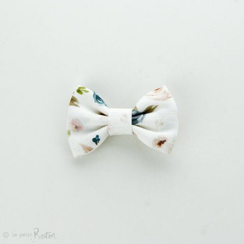 Autumn18 Linen Small Bow Clip- Floral me Autumn
