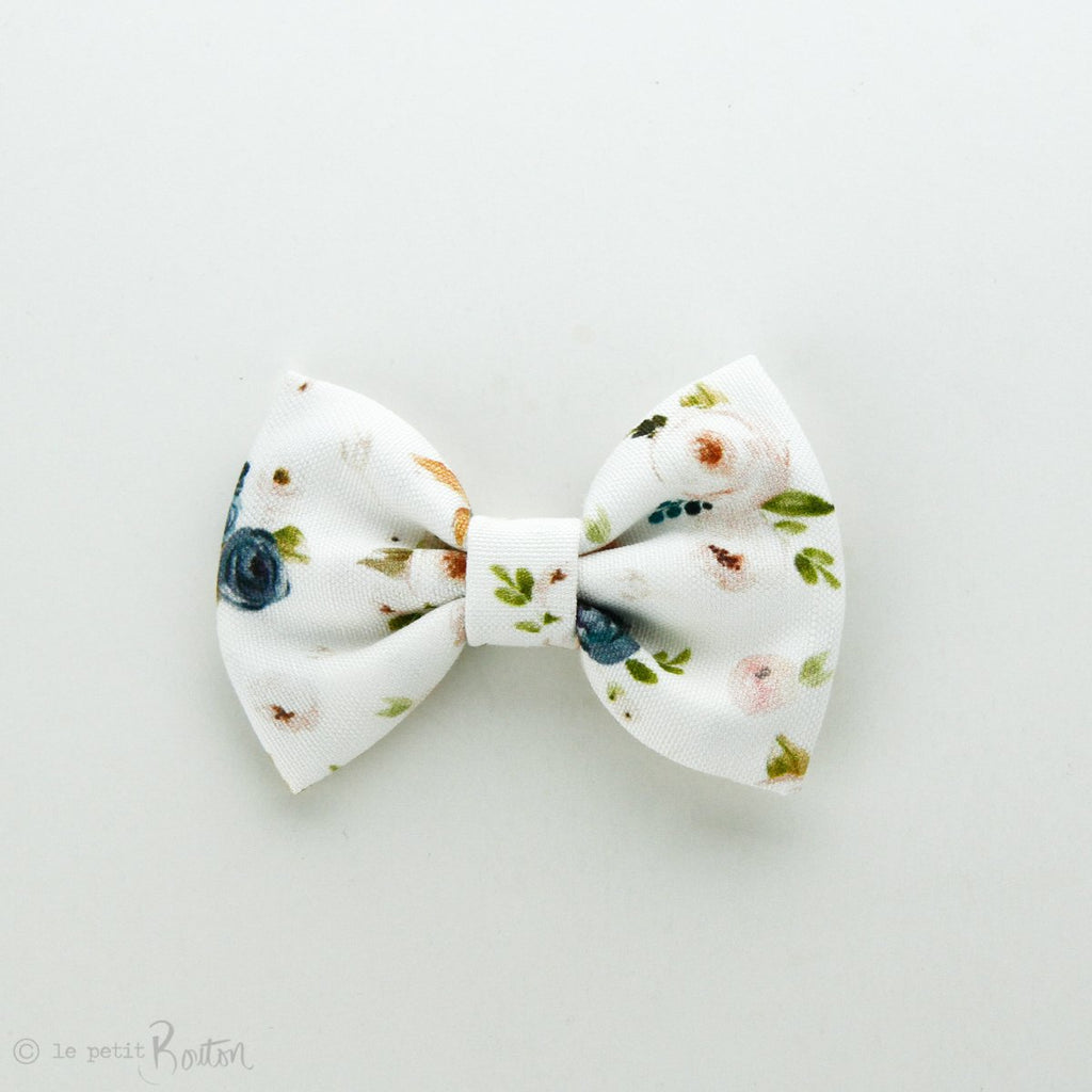 Autumn18 Linen Large Bow Clip - Floral me Autumn