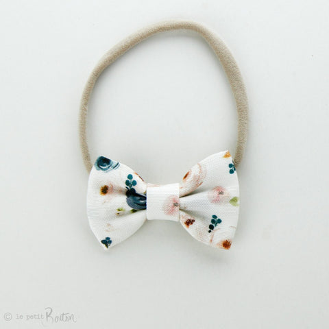Autumn18 Linen Small Bow Headband - Floral me Autumn