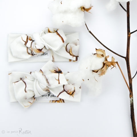 Organic Cotton Bow Knot Headband - Cotton Fields