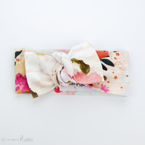 S.ONE Organic Cotton Bow Knot Headband - Magnifique