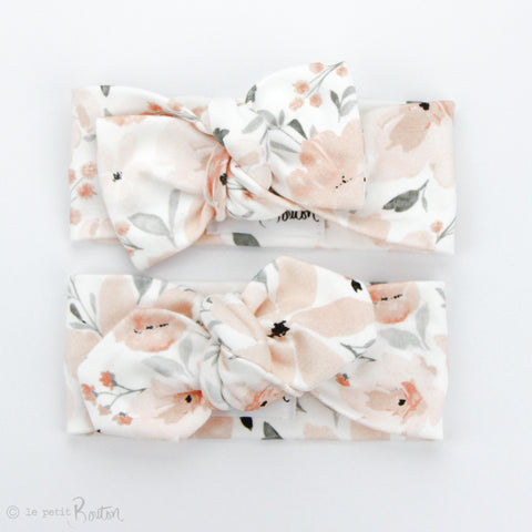 Organic Cotton Top Knot Headband - Sweet Peach