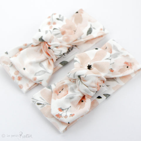 Organic Cotton Bow Knot Headband - Sweet Peach