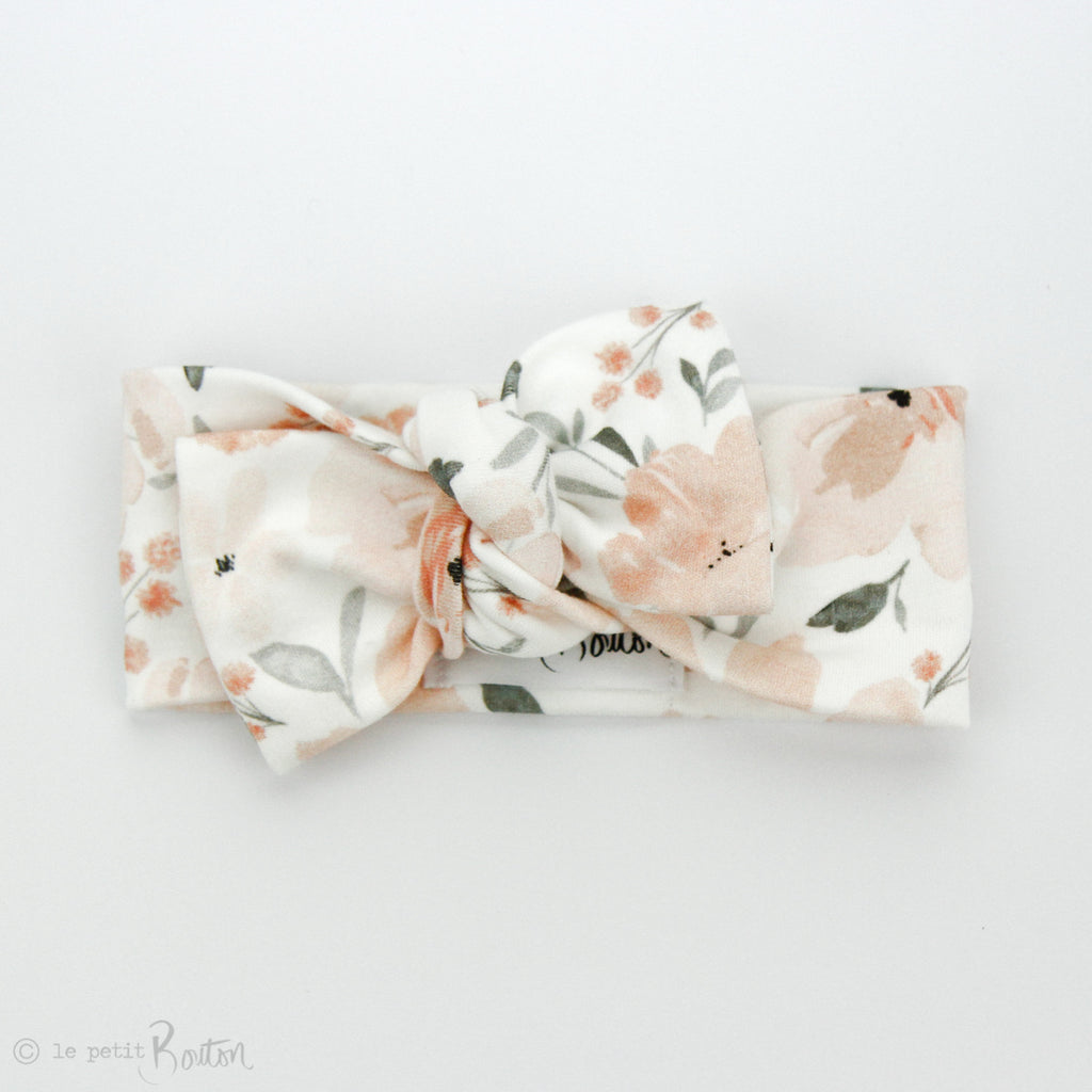 S.ONE Organic Cotton Bow Knot Headband - Sweet Peach