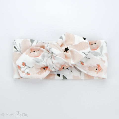 S.ONE Organic Cotton Top Knot Headband - Sweet Peach