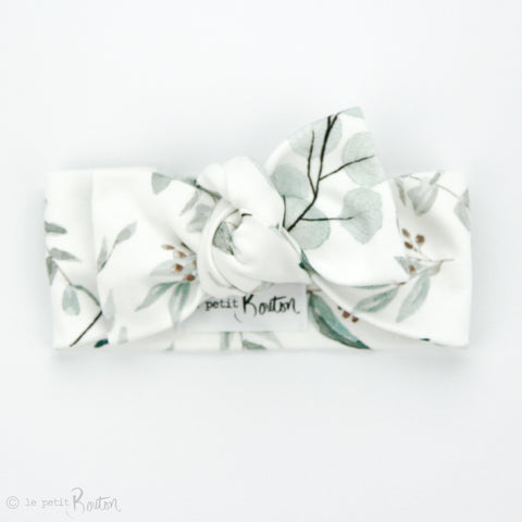 Organic Cotton Bow Knot Headband - Eucalyptus Love