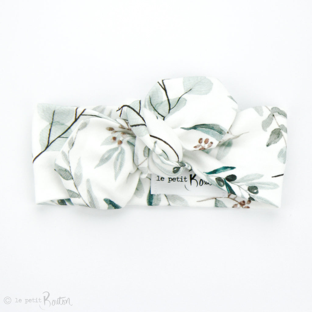 S.ONE Organic Cotton Top Knot Headband - Eucalyptus Love