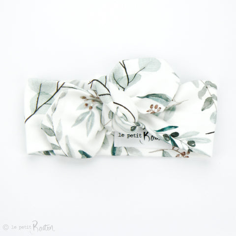 Organic Cotton Top Knot Headband - Eucalyptus Love