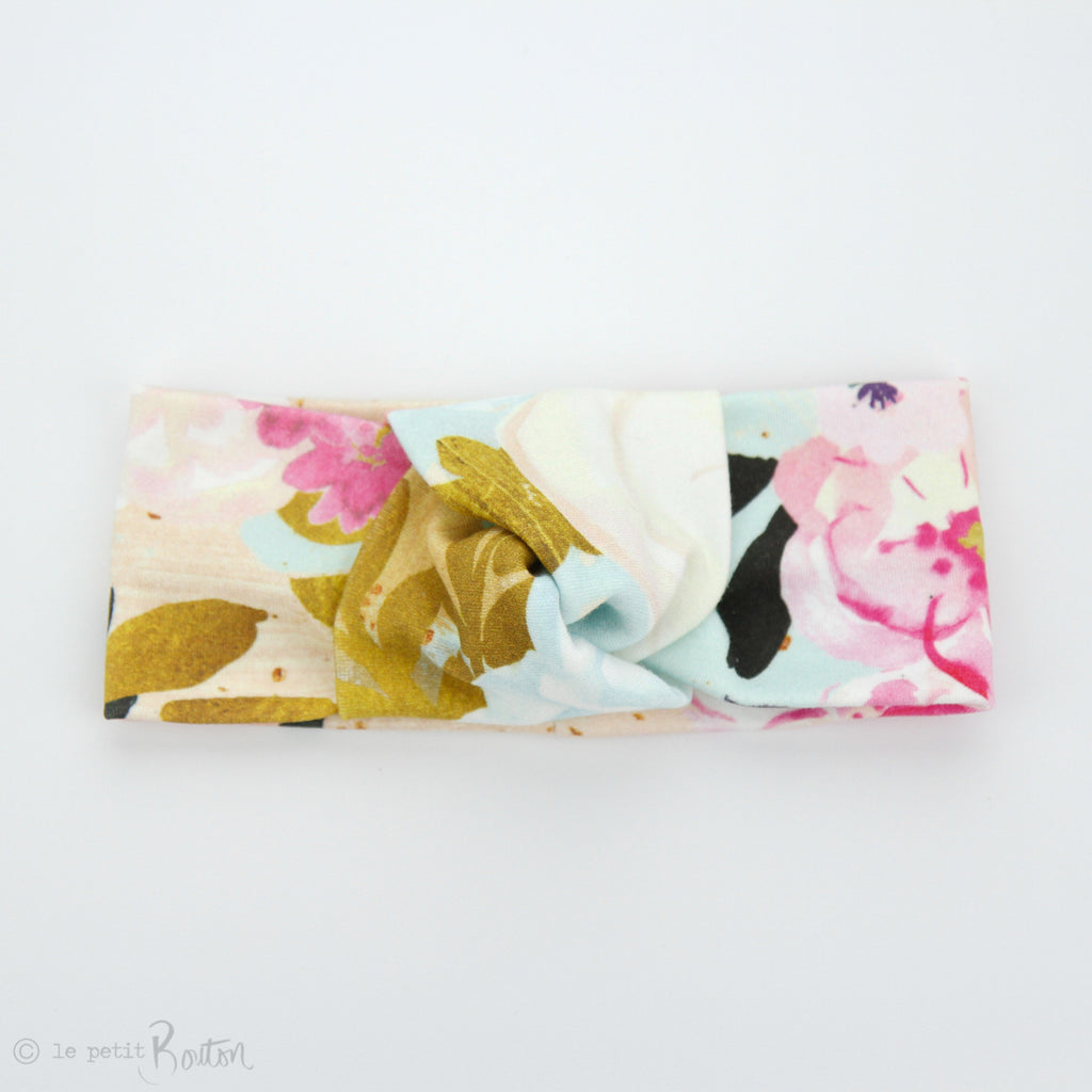 S.ONE Organic Cotton Knotted Turban Headband - Magnifique