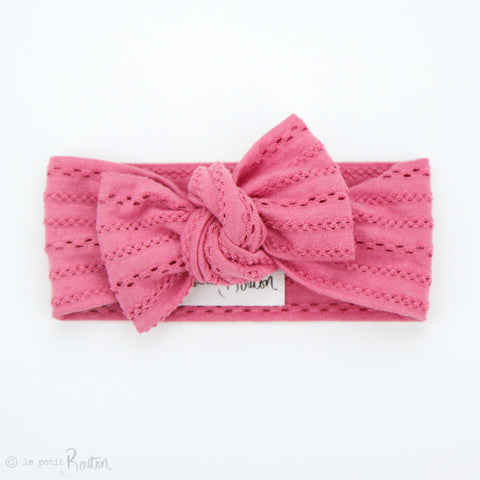 S.ONE Hand Dyed Boho Bow Knot Headband - Raspberry Soda