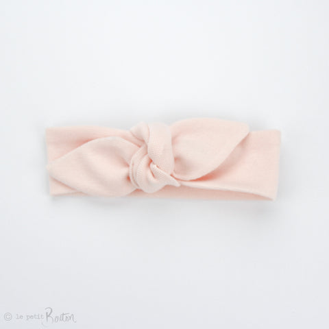 S.ONE Newborn Organic Cotton Ribbed Top Knot Headband - Blush Pink