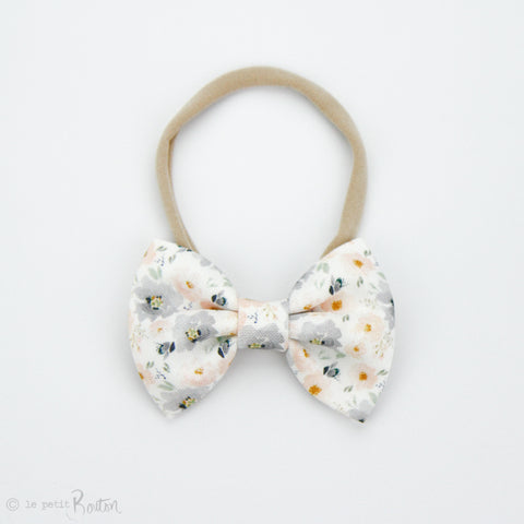 S.ONE Large Linen Bow Headband - PeachMist