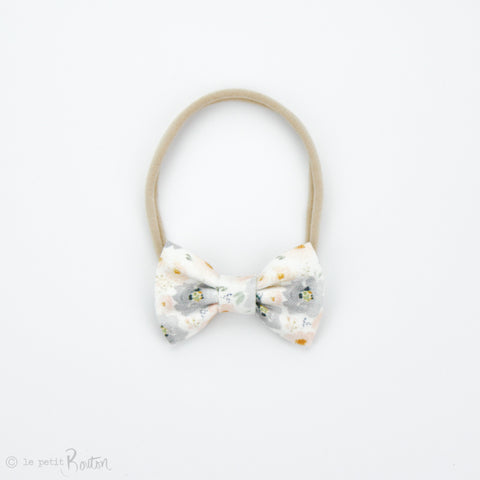 S.ONE Small Linen Bow Headband - PeachMist