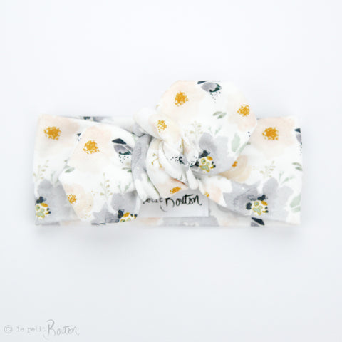 Organic Cotton Top Knot Headband - Peach Mist