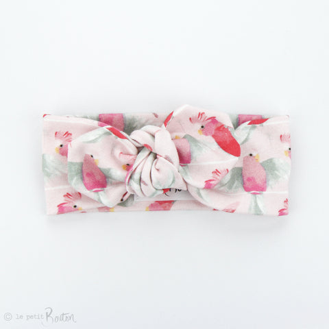Australian Organic Cotton Top Knot Headband - Galah