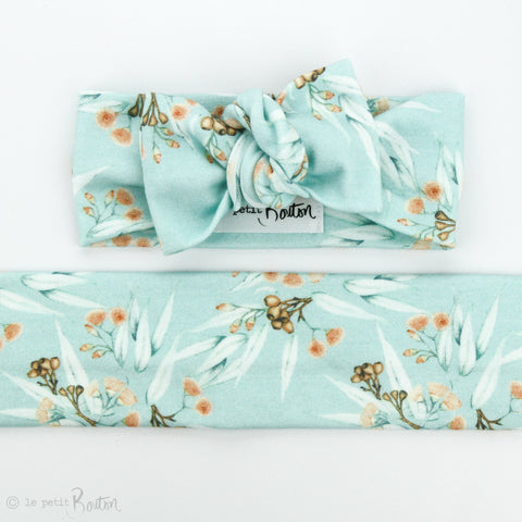 Australian Organic Cotton Bow Knot Headband - Gum Nuts
