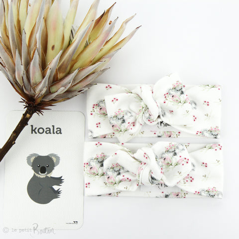 Australian Organic Cotton Bow Knot Headband - Exclusive Flower Crown Koala