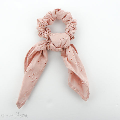 Scrunchie - Broderie Anglaise Scarf - Dusty Pink