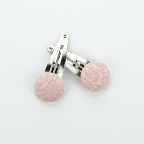 Covered Button Snap Clips - Blush Linen