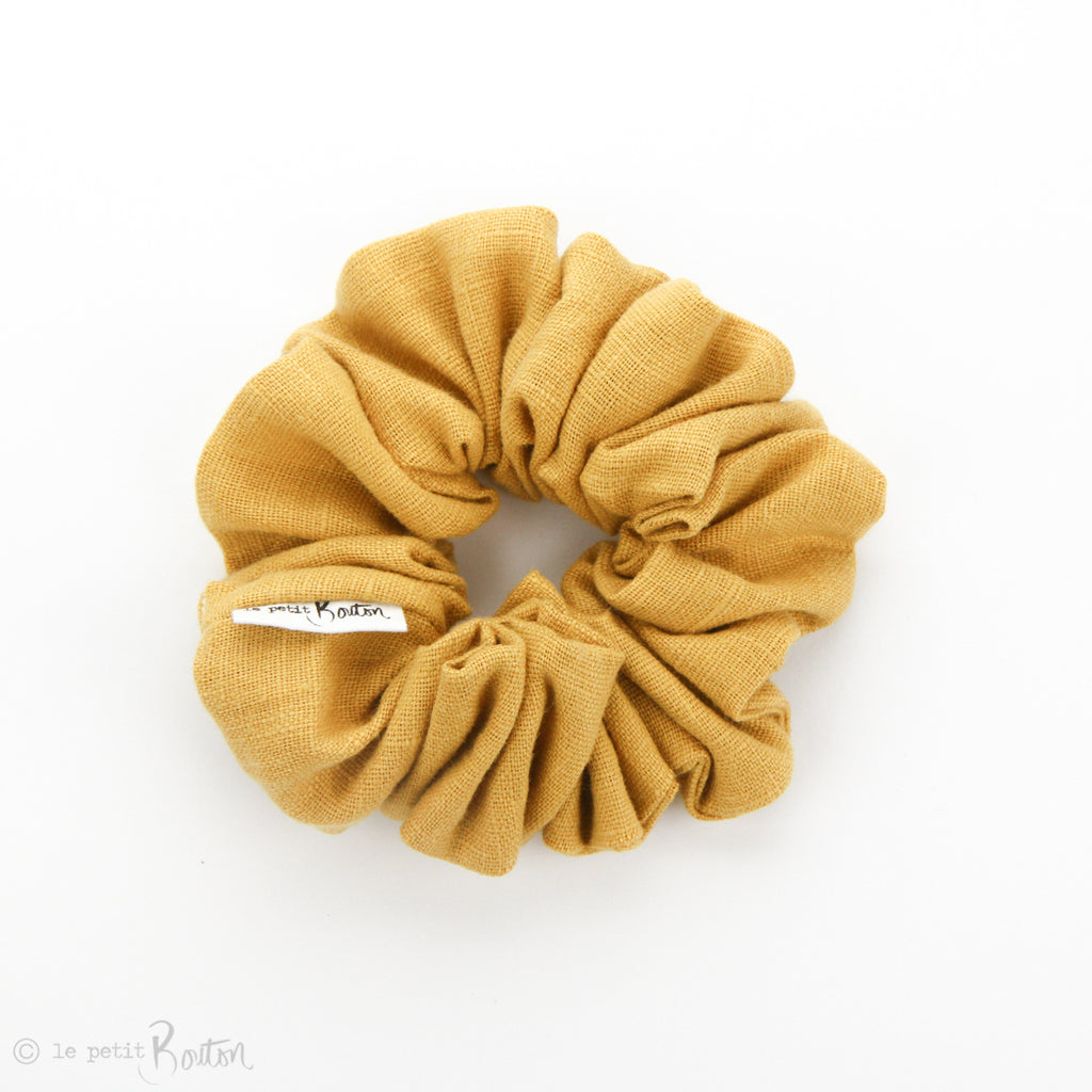Luxe Statement Scrunchie - Mustard Linen