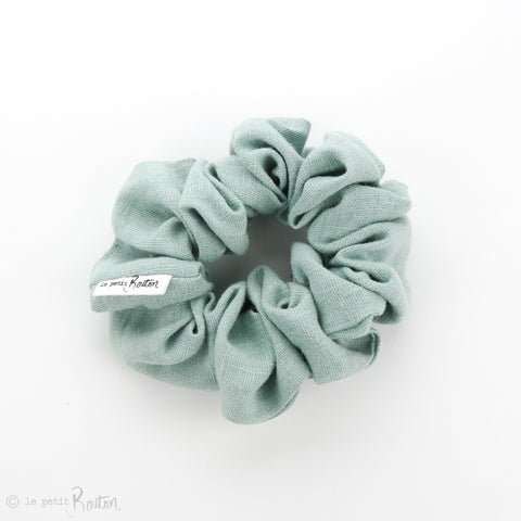 Luxe Statement Scrunchie - Mosaic Blue Linen