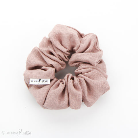 Luxe Statement Scrunchie - Dusty Pink Linen