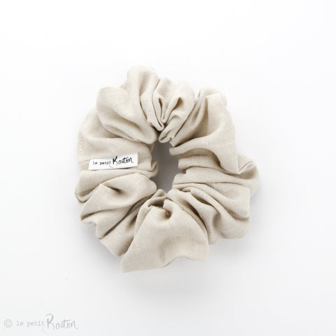 Luxe Statement Scrunchie - Oat Linen