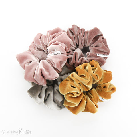 Luxe Statement Scrunchie - Luxe Velvet - Light Dusty Pink