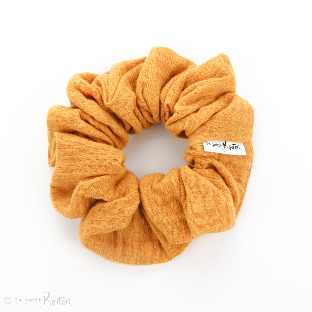 Luxe Statement Scrunchie - Double Gauze - Mustard