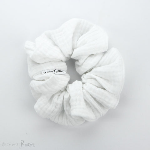 Scrunchie - Double Gauze - White