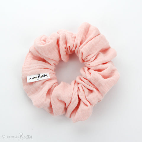 Luxe Statement Scrunchie - Double Gauze - Blush
