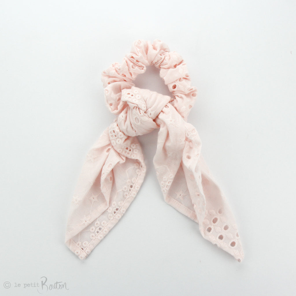 Scrunchie - Broderie Anglaise Scarf - Marshmallow