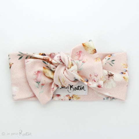 AW19 Organic Cotton Bow Knot Headband - Marshmallow Bloom