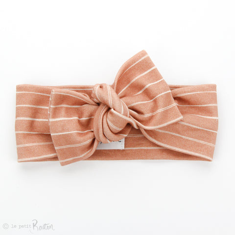 AW19 Organic Cotton Bow Knot Headband - Vintage Stripe