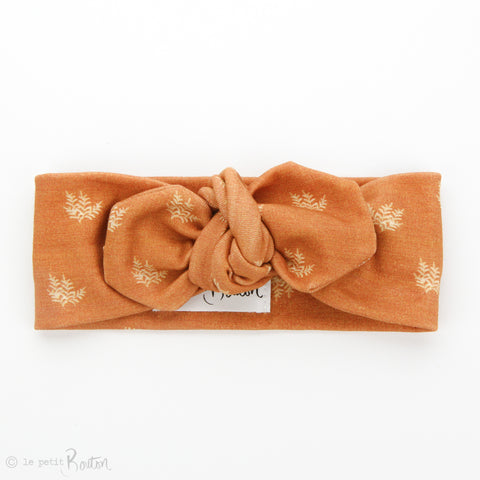 AW19 Organic Cotton Top Knot Headband - Rust Fern