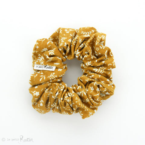 Luxe Statement Scrunchie - Winter Floral - Mustard