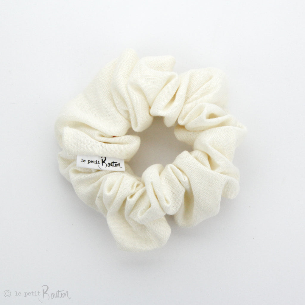 Luxe Statement Scrunchie - Cream Linen