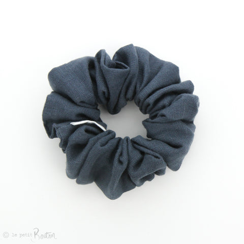 Luxe Statement Scrunchie - Washed Navy Linen