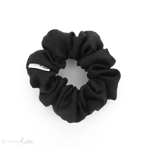 Luxe Statement Scrunchie - Black Linen