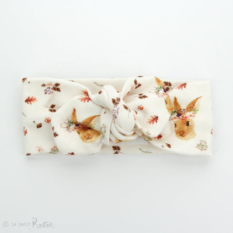 Easter Organic Cotton Top Knot Headband - Autumn Bunny- LAST ONE