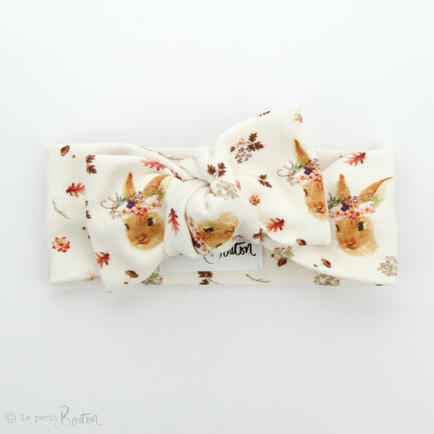 Easter Organic Cotton Bow Knot Headband - Autumn Bunny