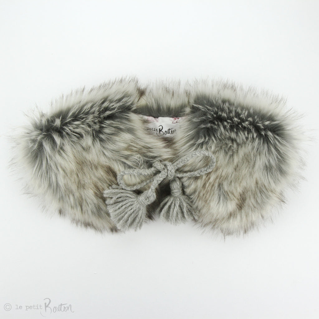 aw19/2 Luxe Faux Fur Collar - Glamour Grey