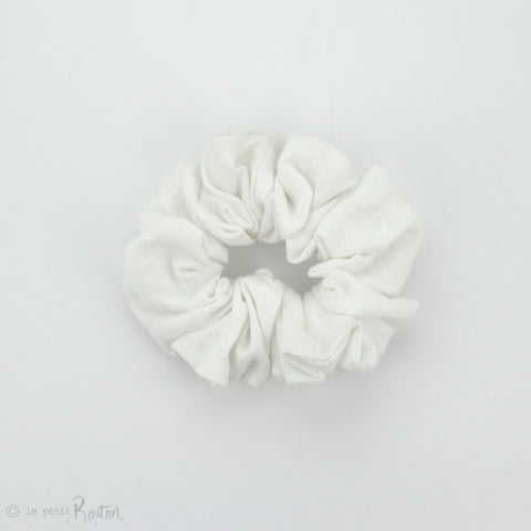 Luxe Statement Scrunchie - White Linen