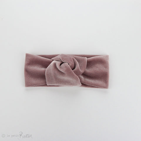 W2020 Knotted Turban Headband - Light dusty Pink Velvet