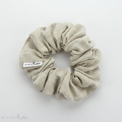 Luxe Statement Scrunchie - Natural Oaten Linen